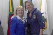 Governadora do Lions visita o município  e apresenta metas de sua atual gestão