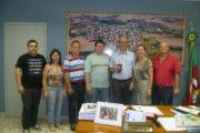Registro da visita do deputado Gerson Burmann