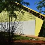 Ginásio bairro Santa Lúcia - obra em fase de finalização