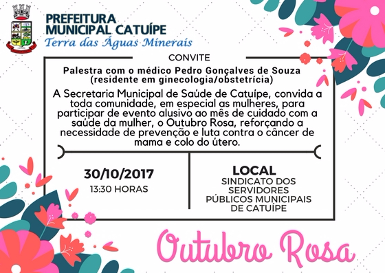 Secretaria de Saúde realiza palestra alusiva ao Outubro Rosa