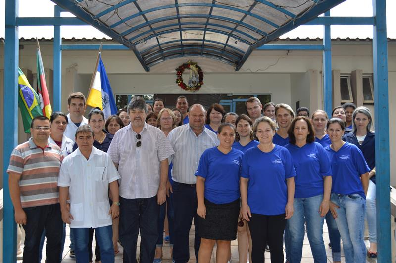 Agentes de saúde em encontro com prefeito Baroninho