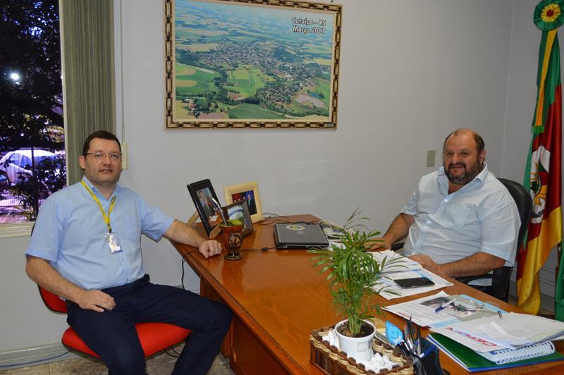 Prefeito recebe visita do novo gerente do Banco do Brasil