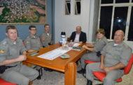 Prefeito Baroni recebe visita da Comandante Regional da Brigada Militar