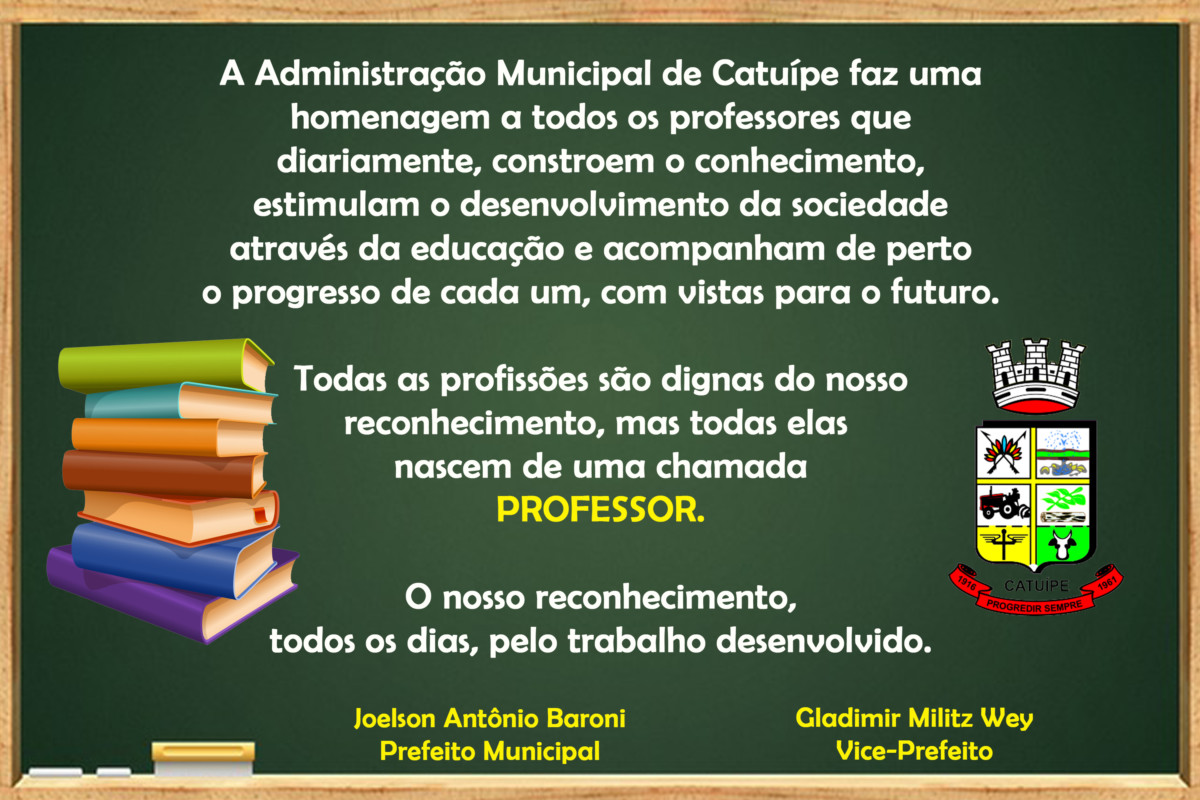 Homenagem Dia do Professor