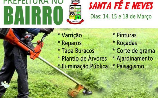 Projeto Prefeitura no Bairro teve início esta semana