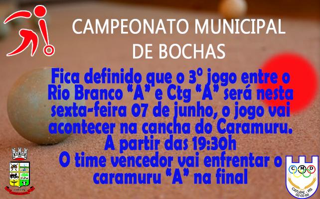 Campeonato Municipal de Bocha 2019