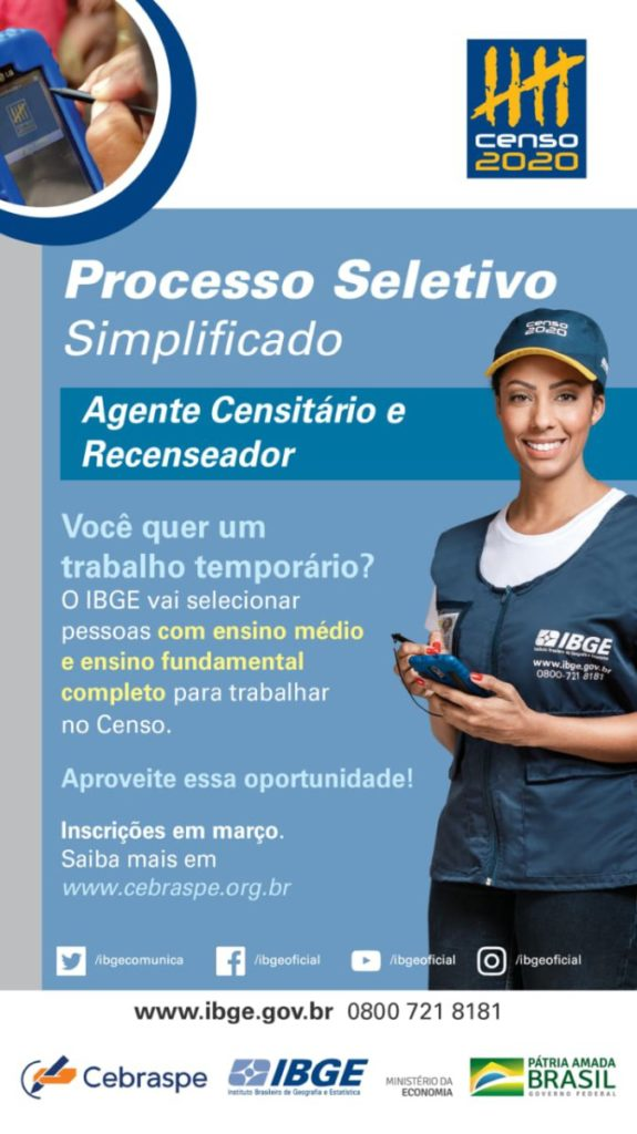 Processos Seletivos Simplificados (PSSs) do Censo Demográfico 2020
