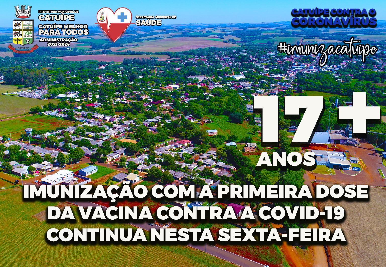 IMUNIZAÇÃO COM A PRIMEIRA DOSE DA VACINA CONTRA A COVID-19 CONTINUA NESTA SEXTA-FEIRA